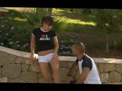 cute italian teen loves cock