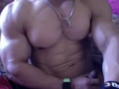 Japanese bodybuilder muscle show on cam