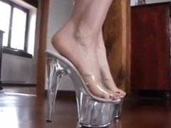 Bare Feet In Open High Heels 11