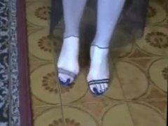 Bare Feet In Open High Heels 17