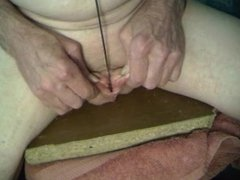 driving skewer through center of my split cock