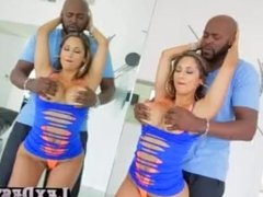 Brunette and big tits Reena Sky gets hammered by Lexingtons bbc