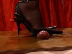 shoejob black slingback and nylons