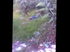 Caught my girlfriend in the bush fucking