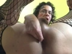 Shemale Pornstar Alhena Double Dildo dp fisting jerkoff cumplay swallow