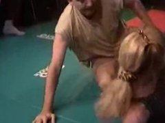 Belgian Wrestling - Black Girl vs White Guy 1