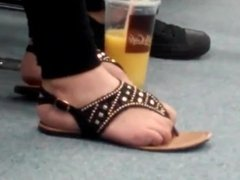 Cute Latina Girl Candid Feet  Beautiful Natural Toes Part 3 (Toe Curling)