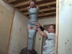 duct tape mummification suspension