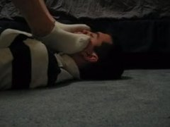 Slave smothered by Socks and Sweaty FeeT