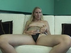 Homemade Young Blonde Natural MILF First PORN Shoot Audition