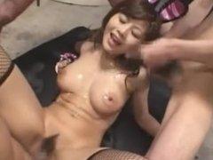 Yuka Aneda bukkake 03