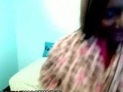 Big Black Tits Babe on Webcam