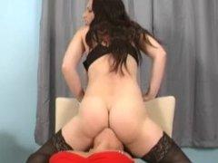 Big tits facesitting tied up lesbian