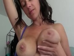 Kelly hart sucking her hard nipples to have milk