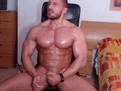 muscle men cum shot