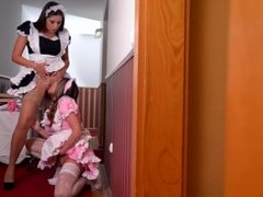 Glamorous Euro Nymphos Busted and Fucked by their Boss