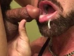 Muscle Hunk Deep-Throating, Sucking and Swallowing Muscle Stud