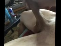 Stroking my fat cock(