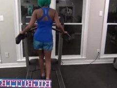 Ebony Gym Rat Blowjob By Stranger In Public Sloppy Head