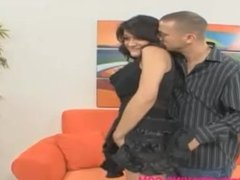 Giant fake titty wife gets plowed hard in front of husband
