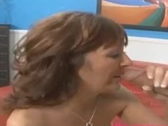 old mom wife get big white cock in front of husband