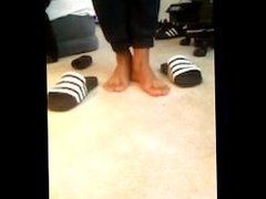 Ebony feet in slides