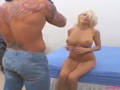 blond milf huge tits gets fuck hard by he friend in front of husban and cu