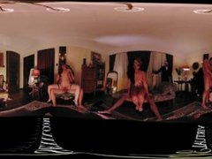 VR 360 Colombian interracial orgy room