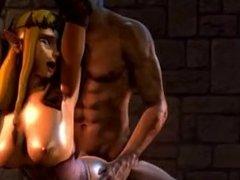 "Zelda from ""The Legend of Zelda"" fucked in a dungeon (edited) clip1"