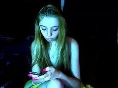 russian webcam teen masturbates to porn, orgasm contractions @13:40