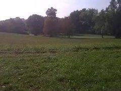 öffentlich abgewichst im Park - Masturb in public park
