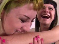 Alissa and Nina biting