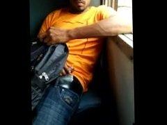 Dick flashing in a train