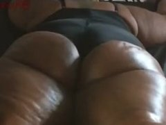 Chocolate BBW gets an Oil Ass Massage followed by Bondage and Spanking