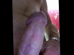 Lubing up and getting hard masturbation