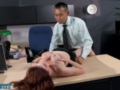 High Heel Redhead at the office