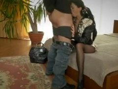 leather jacket sex in the bedroom