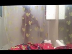 Stolen Webcam Footage of Ig model Gaiagraphy in the shower part 2