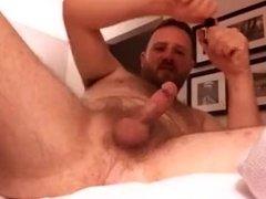 Fingering his ass