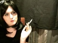 Naughty Sissy Tgirl Smoking Her 120s For Daddy