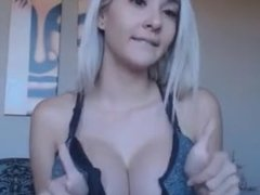 Big boob blonde deeptroath dildo before drilling her pussy with it