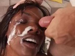 Ana Foxxx gets sperm all over her face (Happy Cum)