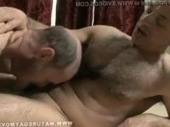 Old man hey massage and fuck with a guy