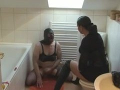 toilet slave jerk off