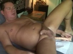 Dildo In My Ass In Bed Cum All Over