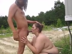 Whore Milf Fucks Outside With Pussy To Mouth Cum Facial