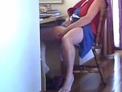 Hidden cam caught my mom masturbating