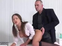 Fervid bookworm was tempted and fucked by her older teacher