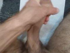 Masturbating Big Dick and cum in hand - amateur italian young