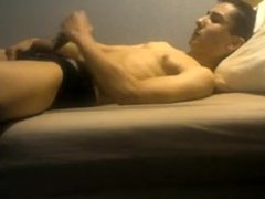 Teen masturbates in bed